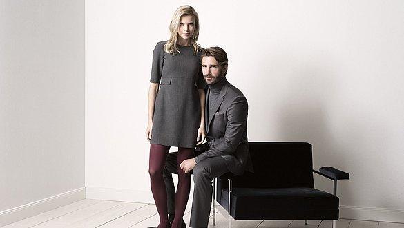 Mann und Frau tragen medi mJ-1 Strümpfe für venengesunde Beine -