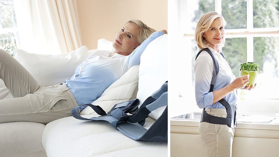 Spinomed back brace for osteoporosis therapy woman
