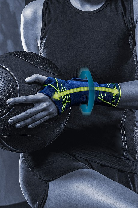 Manumed active E+motion wrist supports from medi